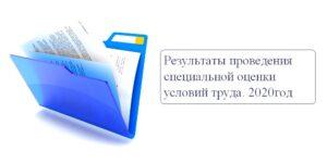 Результаты проведения специальной оценки условий труда (2020 год)
